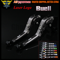 Black+Titanium 8 Colors CNC Adjustable Folding Extendable Motorcycle Brake Clutch Levers For Buell Ulysses XB12X 2009