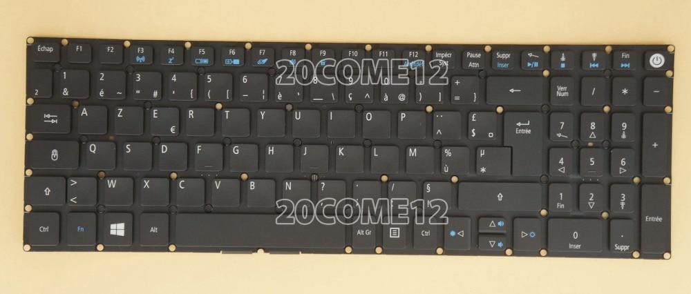 New notebook Laptop keyboard for ACER Aspire V3-575G V3-575T V3-575TG E5-772G Fr / french  layout laptop keyboard for acer silver without frame french fr v 121646ck2 fr aezqsf00110