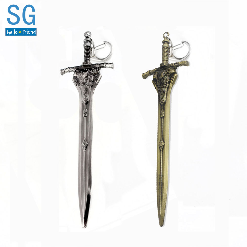 SG Hot Game DARK SOULS 3 Abyss Walker Knights Keychains Artorias Sword Solaire Of Astora Sun Men Car Bag Pendant Keyring Jewelry