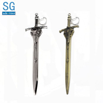 SG Hot Game DARK SOULS 3 Abyss Walker Knights Keychains Artorias Sword Solaire Of Astora Sun Men Car Bag Pendant Keyring Jewelry image
