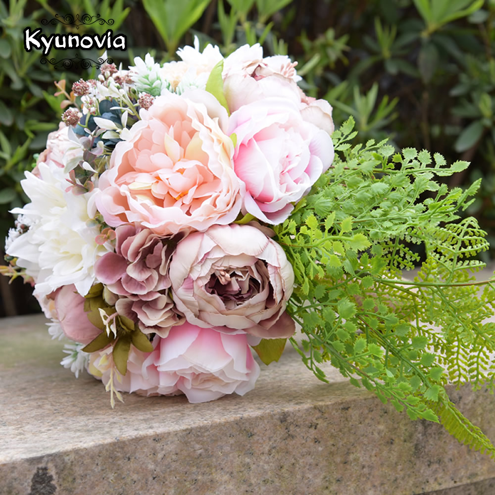 Kyunovia pink real touch flowers peony bouquets for wedding peonies kyunovia pink real touch flowers peony bouquets for wedding peonies bridal bouquets centerpieces home decoration 2 styles fe47 in wedding bouquets from izmirmasajfo