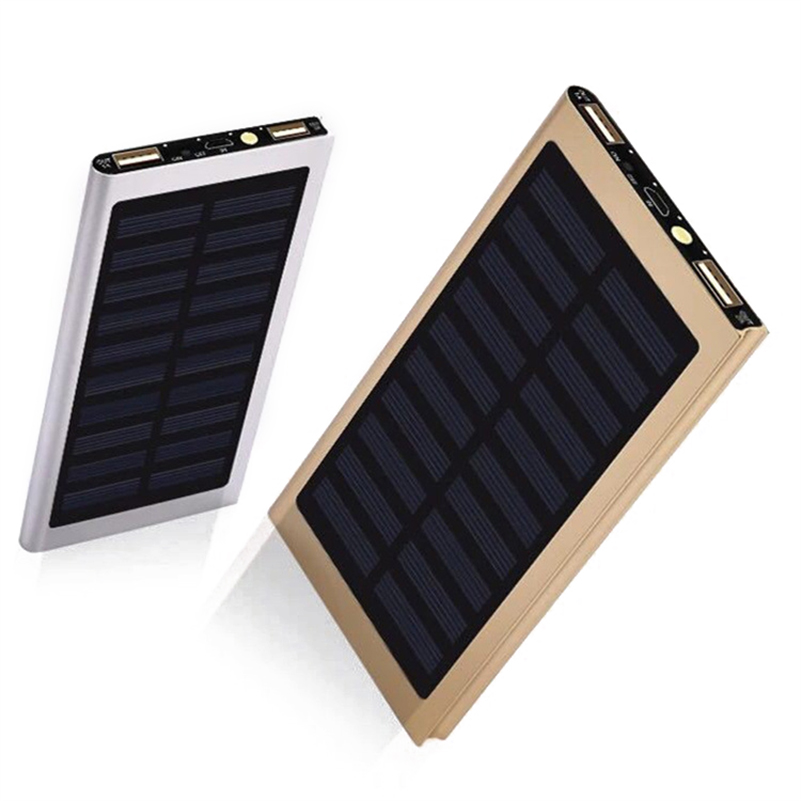 20000mah Portable Solar Charging Power Bank Cell Phone Solar Charger With Dual Usb Charging Ports Led Light Compasses Consumer Electronics Accessories & Parts