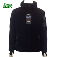 CavalryWolf Outdoor Wool Softshell Jacket Men Windproof Waterproof Male Hiking Camping Hiking Heated Clothing