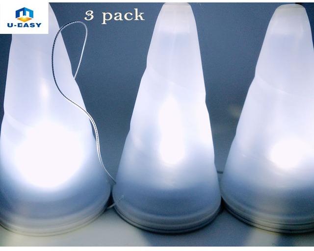U-EASY 3 pcs/Set LED Solar Hanging Light Outdoor Garden Lamps Solar Powered Hanging Tree LED Night Lights