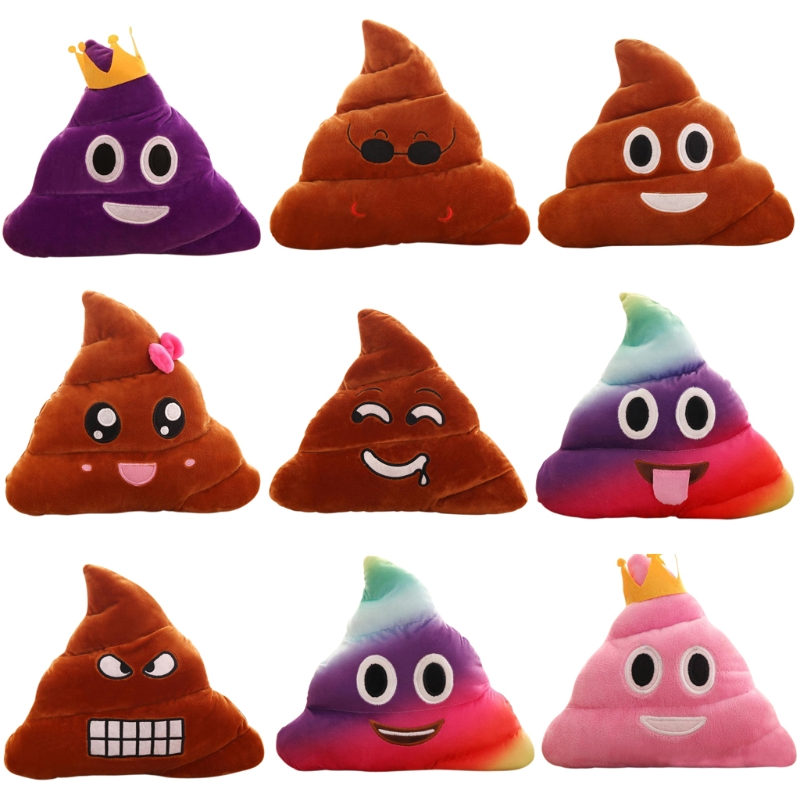 20cm Color Poop Design Mini Cute Poo Emoji Emoticon Cushion Poop Pillow Doll Toy Throw Pillow Soft Stuffed Soft Doll -B116