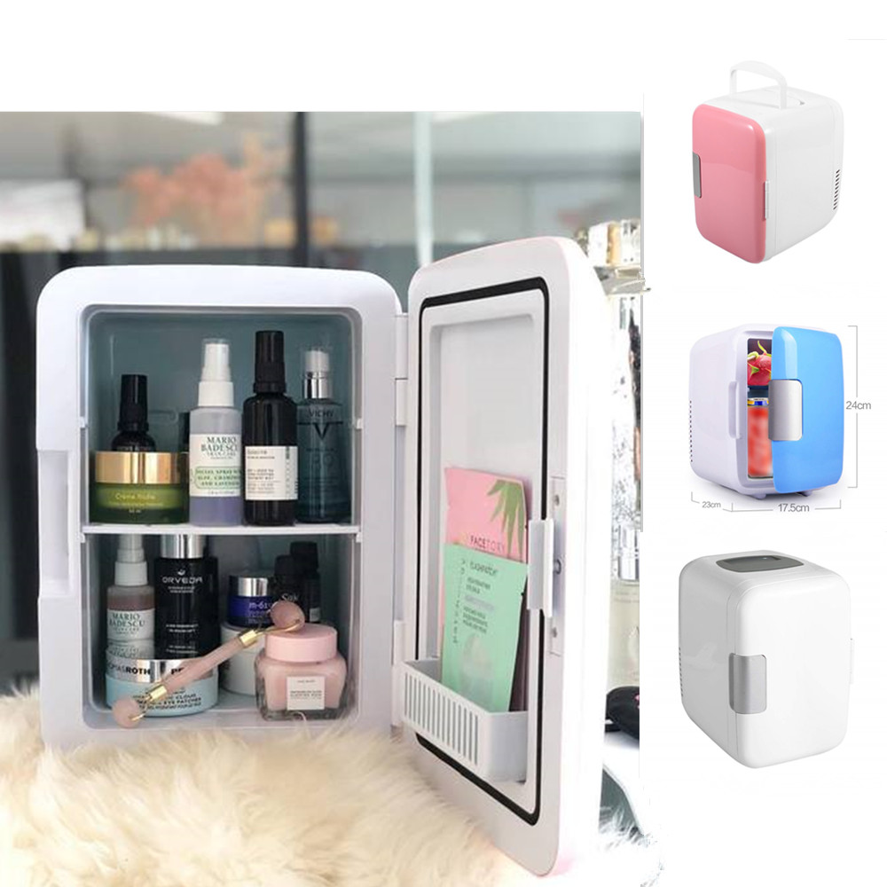 Eletric Car Home Refrigerator Fridge Car/Home Mini Dual-use Cool Warmer Dormitory Cans Beer Cooler Mini Refrigerators Freezer image