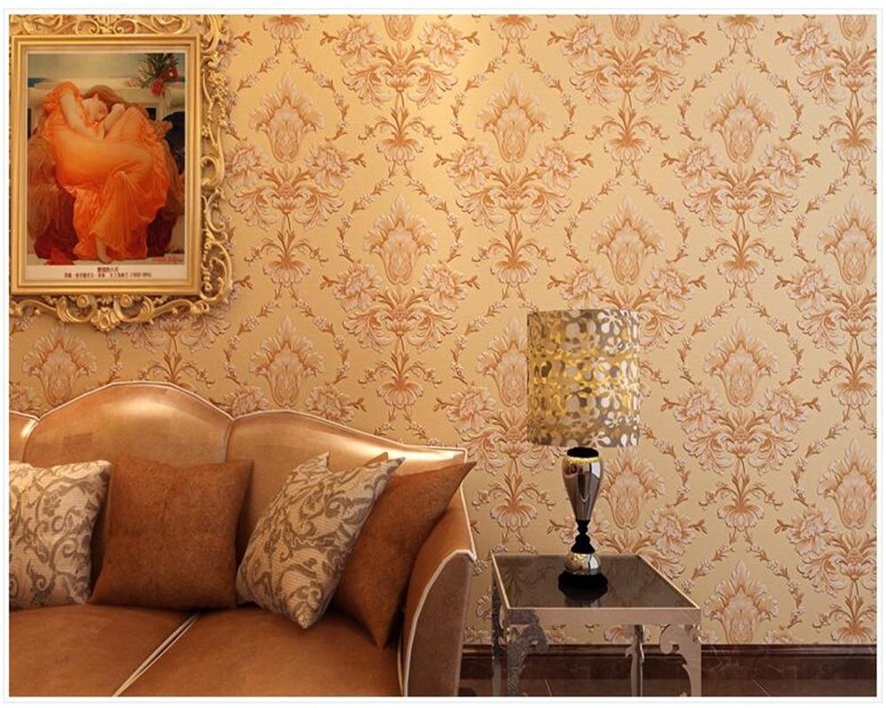 beibehang papel de parede 3D relief Damascus non woven wallpaper living room restaurant bedroom background hudas beauty behang in Wallpapers from Home Improvement