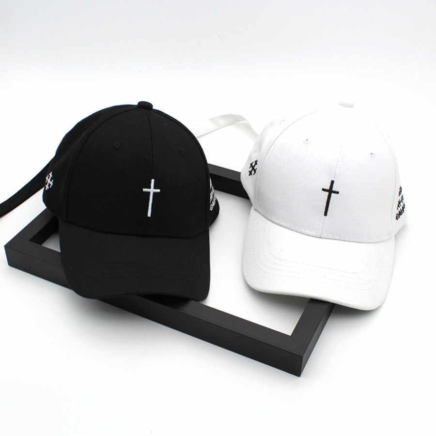 ... Hami Otwo Embroidery Christian Cross Cotton Cap Baseball Cap casual  Snapback Hat Hip Hop Jesus God ... 2699f9d7b1ca
