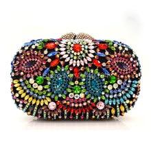 2017 New Designer Evening Bag Crystal Women Clutches Purse Wedding Bride Bag Indian Evening Handbag Party