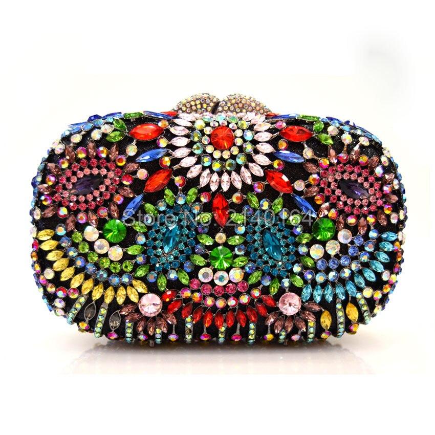 New Designer Evening Bag Crystal Women Clutches Purse Wedding Bride Bag Indian Evening Handbag Party Clutches (88304-B)New Designer Evening Bag Crystal Women Clutches Purse Wedding Bride Bag Indian Evening Handbag Party Clutches (88304-B)