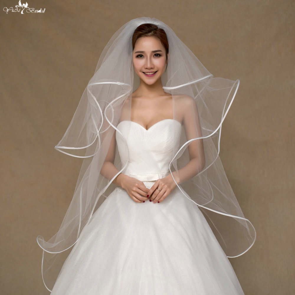 LZP Meter Multi Layer Short Veil Tulle Wedding Veil