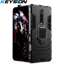 Keysion Shockproof Armor Case Voor Red Mi K20 K20 Pro Note 7 7a 6 8 Pro Stand Houder Auto Ring telefoon Cover Voor Xiao Mi Mi 9T Pro Mi 9 Se CC9e Mi 8 Lite A2 A3(China)