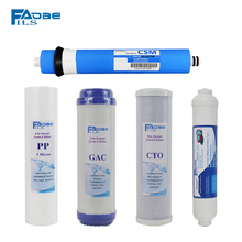 Premium 75 GPD High Capacity Complete Replacement Filter Set For most Series Reverse Osmosis Water Filter System -pack of 5