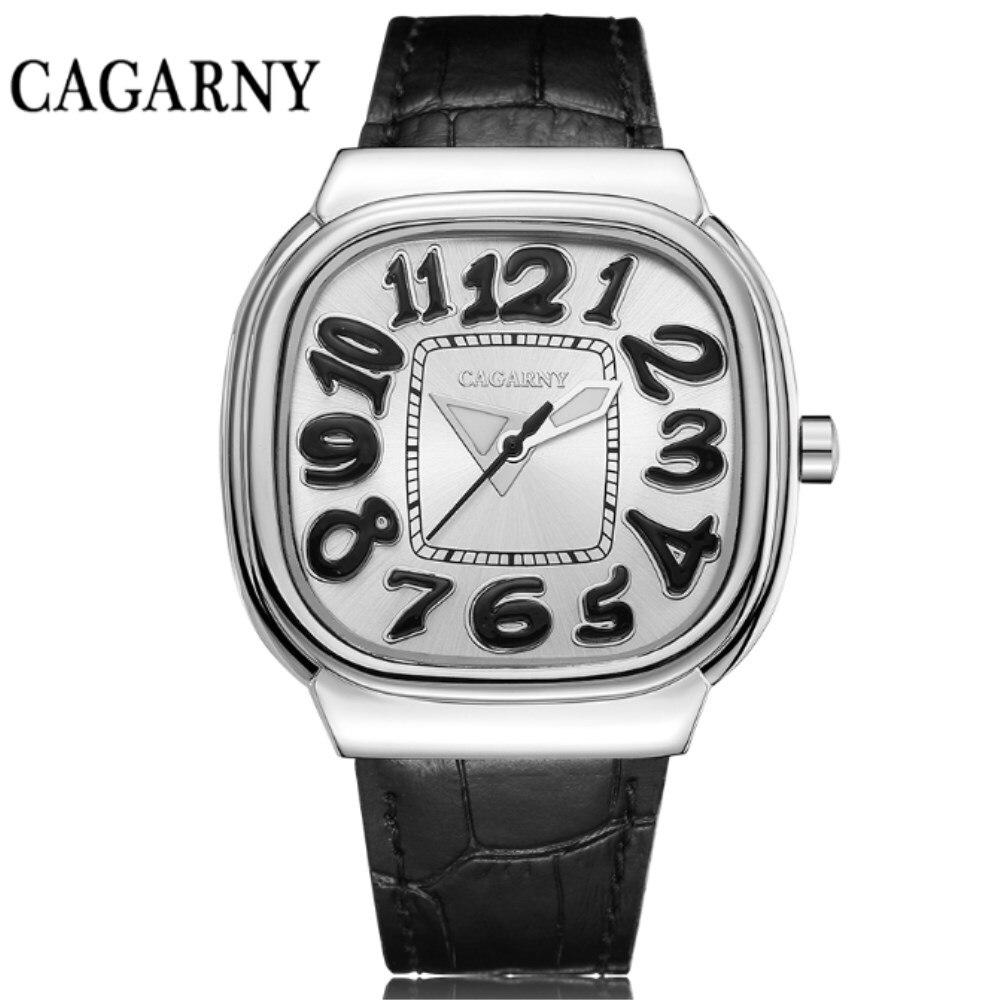 CAGARNY Luxury Women Watches Fashion Leather Watchband Quartz Clock Hot Sale Brand Ladies Big Watch Girls Sports Wristwatches