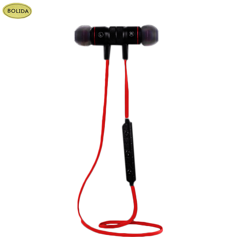 Bolida Bluetooth V4.1 Wireless Sport Running Earphone Stereo In-ear Magnet Earbud With Microphone Earphone For iphone Sumsang Xi