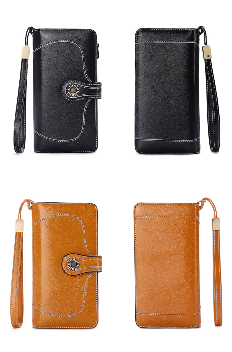 Vintage Style Split Leather Women's Wallet Bags and Wallets Hot Promotions New Arrivals Women's Wallets