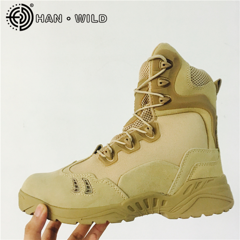 Men's Desert Combat Boots Genuine Leather Army Boots Shoes Men High Military Tactical Hiking Boots Coturnos Masculino