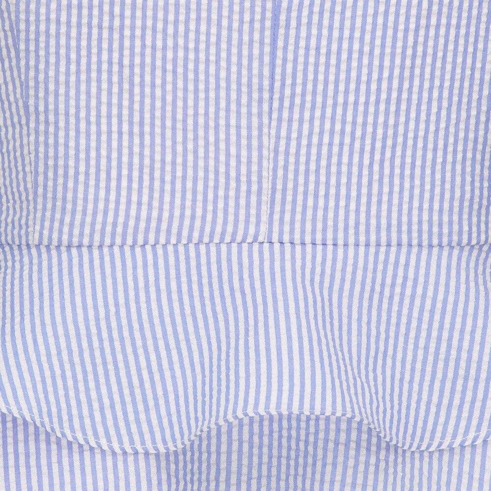 blouses Women summer style shirts notched striped sexy sleeveless office lady slim blouses tops fashion falbala women blouses