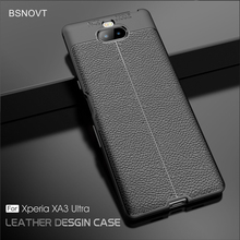 For Sony Xperia XA3 Ultra Case Silicone Leather Anti-knock Cover BSNOVT