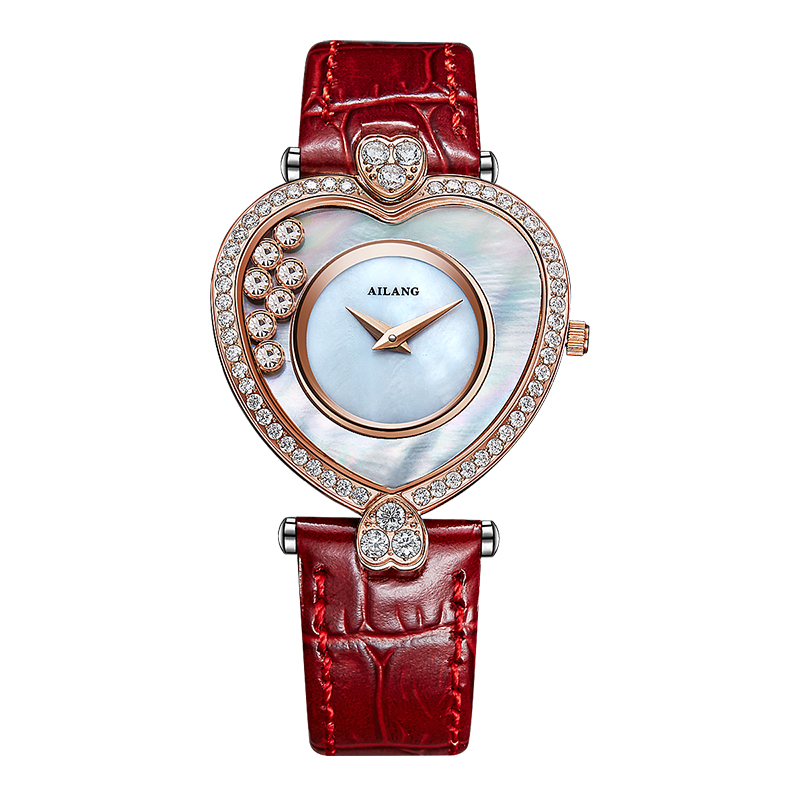 цены  AILANG luxury fashion luxury brand Ladies Leather Watchband Relogio Hotel Feminino quartz watch watch simulation skirt