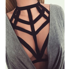 Hollow Out Elastische Cage Bra Sexy Vrouwen Dames Hollow Strappy Beha Kooi Crop Top Bustier Tops harnas Riem Vest Zwart #5(China)