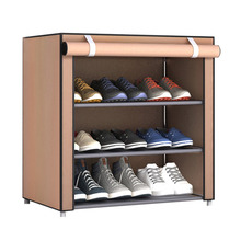 Dustproof Large Size Non-Woven Fabric Shoes Rack Organizer Home collection Dormitory Shoe Racks Shelf Cabinet red