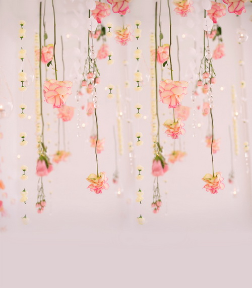 5x7ft Customized Children Floral Wall Vinyl Photography Backdrops For Kids Photo Studio Background For Sale CM