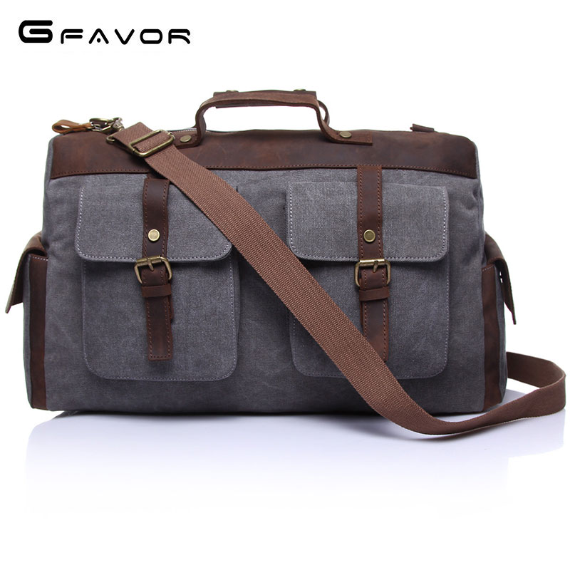Men Canvas Shoulder Bag Vintage Zipper Handbags Travel computer Casual Tote Portable Messenger Bags Crossbody Bag For Men CB1858 augur 2017 canvas leather crossbody bag men military army vintage messenger bags shoulder bag casual travel school bags