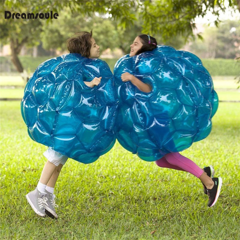 Bubble Soccer Body Bumper Body Ball Zorb 60CM Inflatable Soccer Ball Bubble Funny Outdoor Soccer Game for Kids (Only One Ball) inflatable body suit human inflatable bumper bubble ball bubble soccer body zorbing ball 90cm grass zorb buddy bumper ball