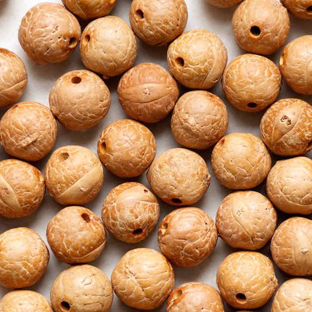 50PCS Natural Bodhi Beads Real Nepal Phoenix Eye Bodhi Seeds 13 16mm