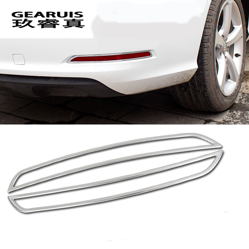 2Pcs Exterior molding Rear Fog lamp frame decorative cover trim Car styling Stainless Steel stickers for Audi A3 8V 2014-2017