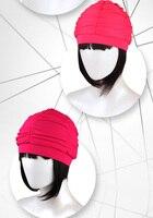 여성 수영 모자 레이디 긴 머리 수영 모자 프릴 새로운 디자인
