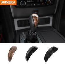 SHINEKA Auto Styling Schalthebel Getriebe Shift Dekoration Abdeckung Trim Fit für Nissan Patrol Y62 2017 + Auto Innen Zubehör