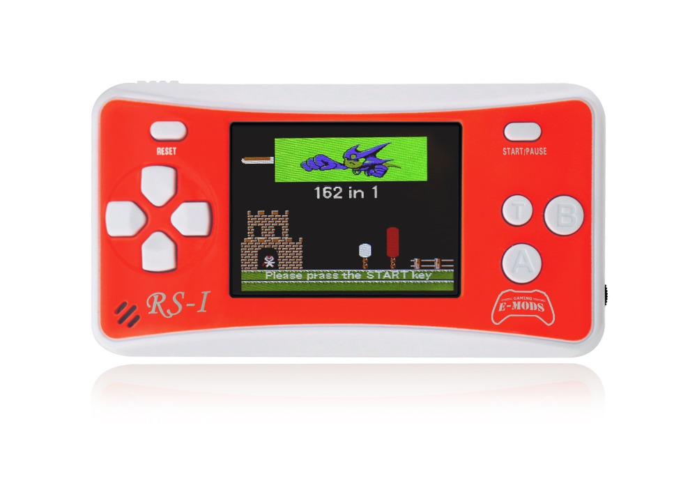 2.5″ Portable 8 Bit Video Game Console Handheld Rechargable Game Player Built-in 162 Games Support AV Output (Red)