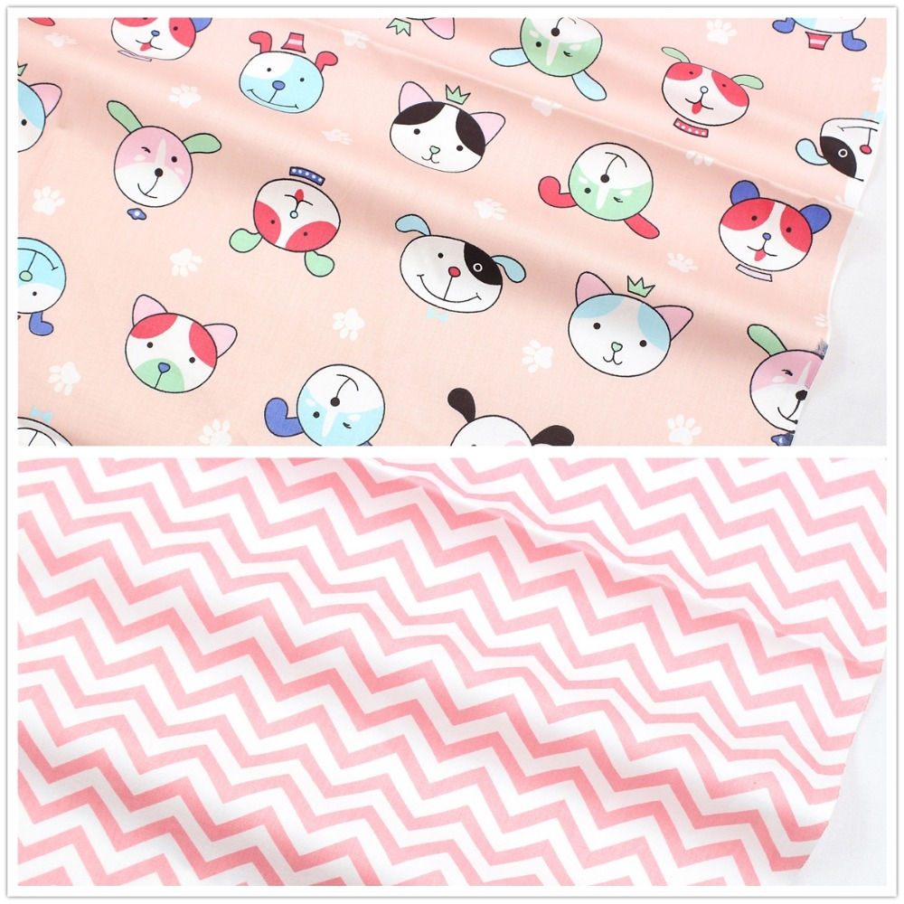 1682014 , Clothing accessories 50*150cm cartoon cotton fabric,crafts handmade patchwork cotton fabric home textile free shipping