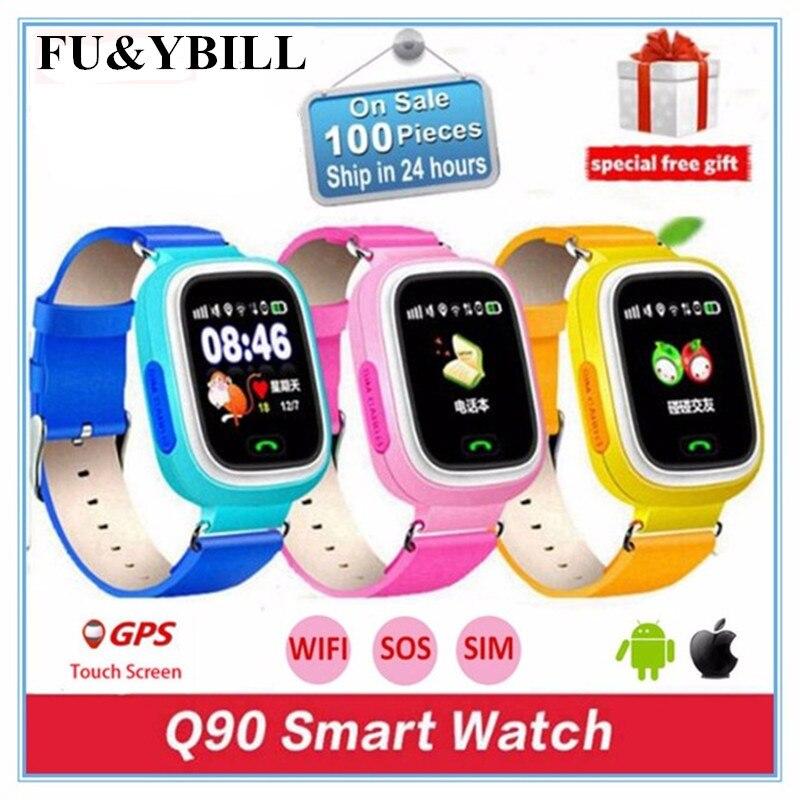 Q90 Q80 GPS Telefon Positionierung Mode Kinder Uhr 1,22 Zoll Farbe Touchscreen SOS Smart Uhr PK Q50 Q60 Q730 Q750 V7K A6