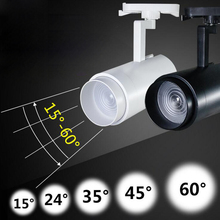 10pcs COB LED rail track light Zoomable 15W 20W 24W 30w spotlight downlight for Cabinet show Clothes Jewellery shop
