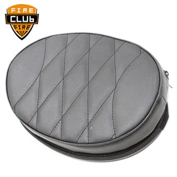 Motorcycle Black Artificial Leather Rear Passenger Backrest Seat Cushion Pad  For Harley Touring Street Glide FLHX 1997-2019