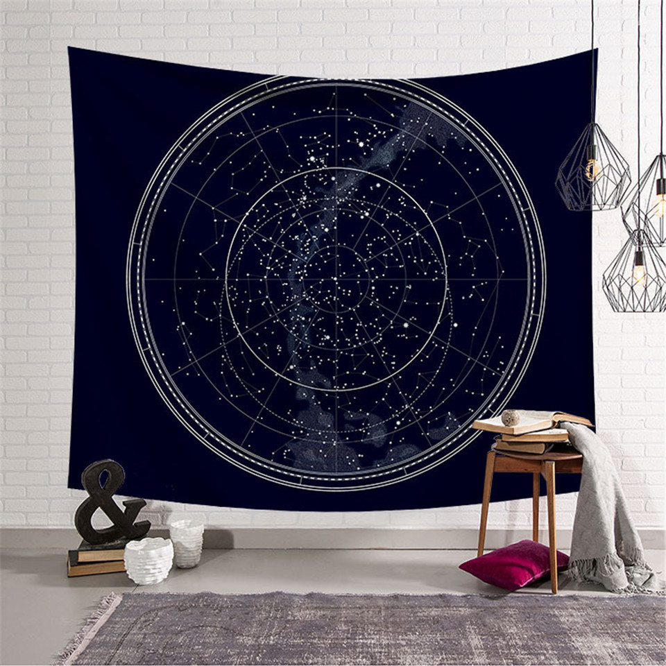 Cilected Galaxy Constellation Tapestry Fabric Wall Hanging Hippie Gossip Tapestry Home Decor Wall Art Tapestries Blanket