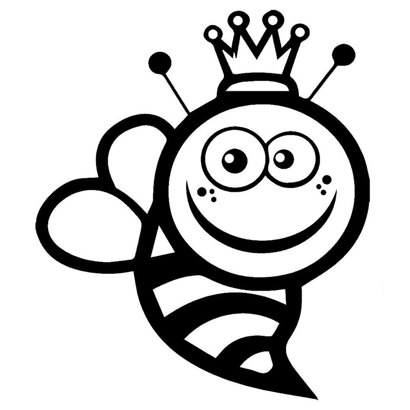 13 115 2cm queen bee funny vinyl car stickers personalized car and motorcycle body decals black silver c9 1677 in car stickers from automobiles