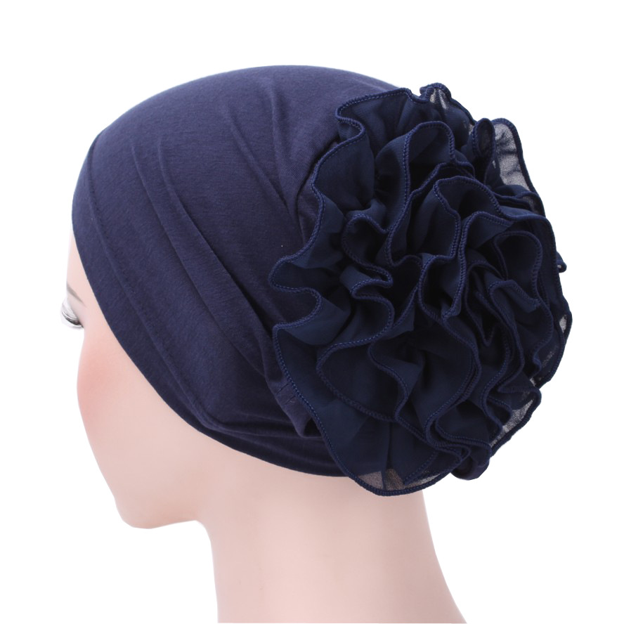 Turbans for Women Cotton,Head Wraps 2019 Winter Fashion Cancer Cap Gift Christmas Simple Black New Outdoor Fit