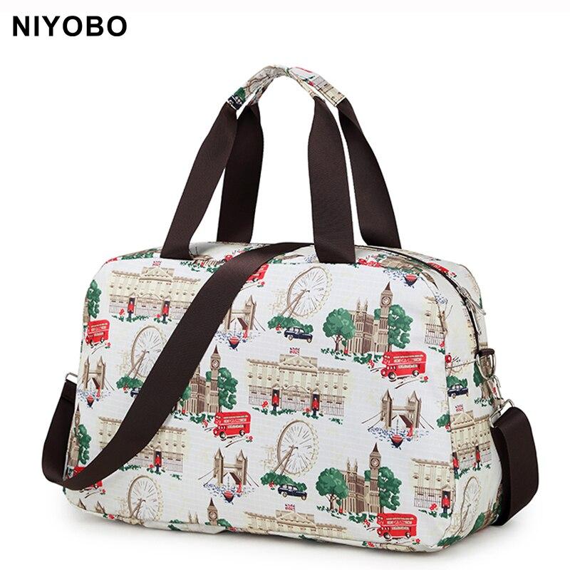 Fashion Women Travel Bag Luggage Handbag Print Travel Duffle Bags Korean Style Folding Travel Tote Bag PT1063