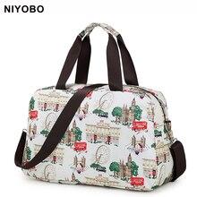 Fashion Women Travel Bag Luggage Handbag Print Travel Duffle