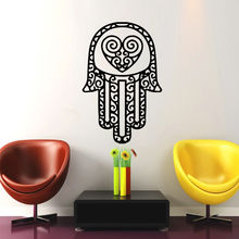 Removable Home Wall Stickers Vinyl Decals Yoga Fatima Hand Hamsa Buddha Mural Room Decor CW-37
