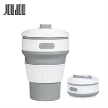 JOUDOO Folding Silicone Portable Telescopic Drinking Collapsible coffee cup multi-function folding silica Travel 35