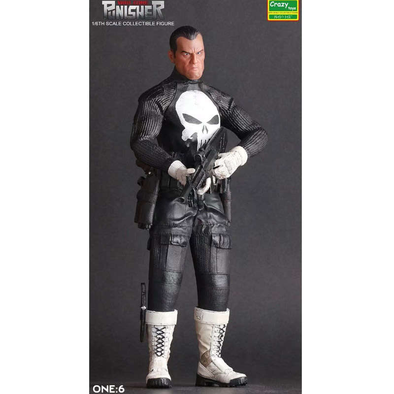 DC Comic War Zone Figure Punisher Action Figure Crazy Toys PVC Collectible Toys 29cm the punisher action figures 1 12 scale pvc action figure collectible model toy anime punisher superhero toys