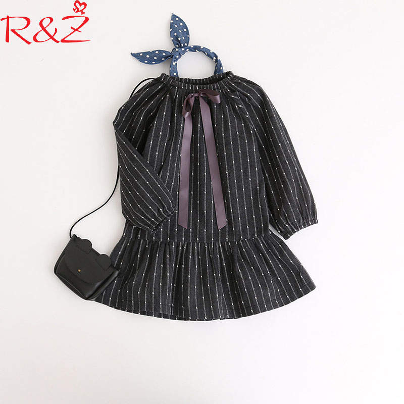 R&Z Baby Girls Dress 2018 Korean Spring Cotton Printing Long Sleeve Bowknot Tie Infant Baby Girls Dress Kids Children's Clothing kids girls birthday dresses infant dress newborn girls baby cotton long sleeve clothing 0 4 years