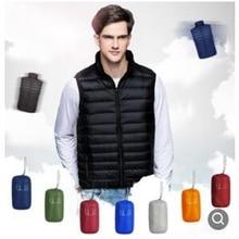 2019 New Arrival Brand Men Sleeveless Jacket Winter Ultralight White Duck Down Vest Male Slim Mens Windproof Warm Waistcoat