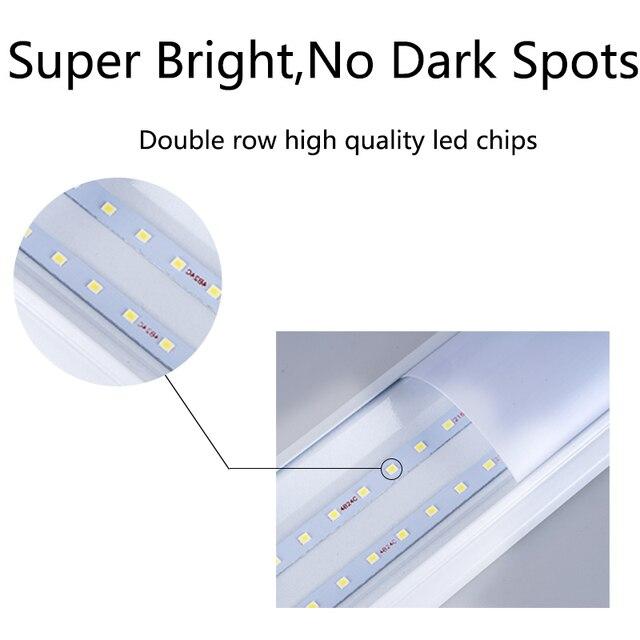 10PCS Led Tube Light 220V Led Lamp 1200mm 120cm 600mm T5 T8 Tube 20W 30W 40W Wall Lamp Home Lighting Lampara Home 1