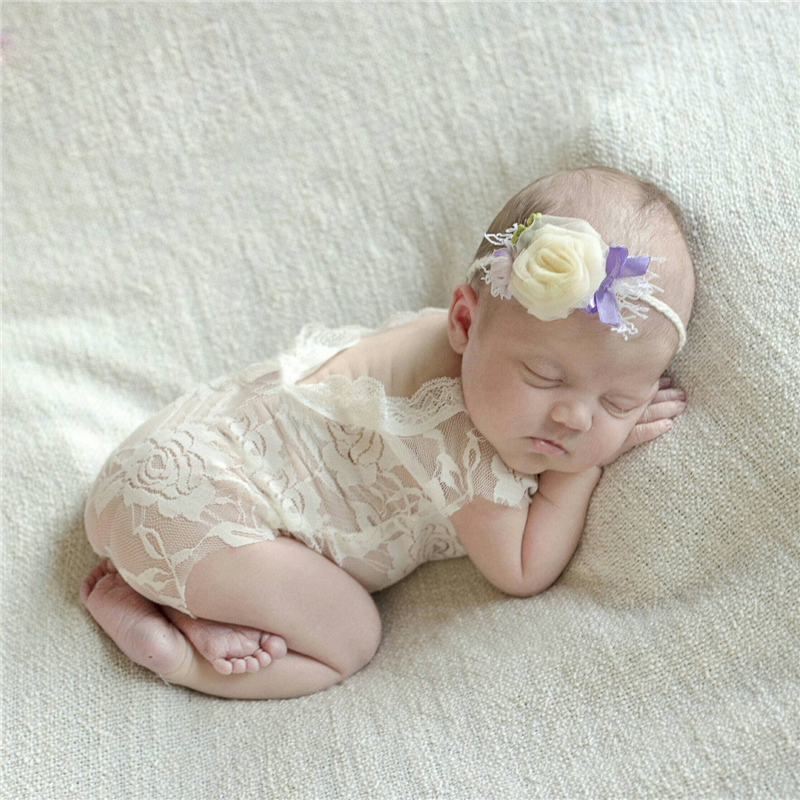 Baby Newborn Lace Romper Photography Props Accessories